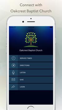Oakcrest Baptist Church poster