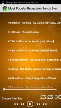 Popular Reggaeton Songs Ever apk screenshot