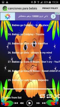canciones para bebés 2017 apk screenshot