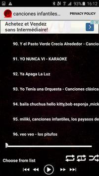 cancione infantile para bailar apk screenshot