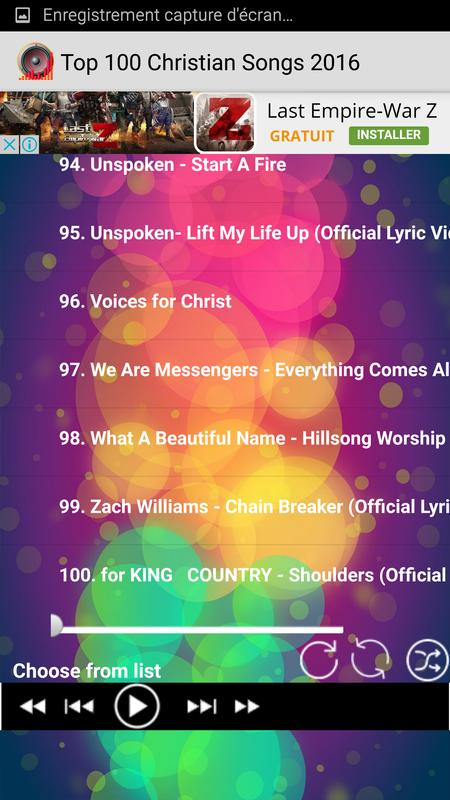 top 100 christian songs 2016 poster top 100 christian songs 2016 screenshot 1