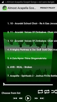 Almost Acapella Gospel Songs poster