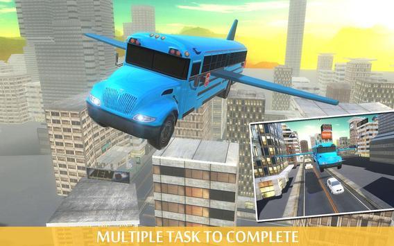 Flying School Bus Simulator apk screenshot