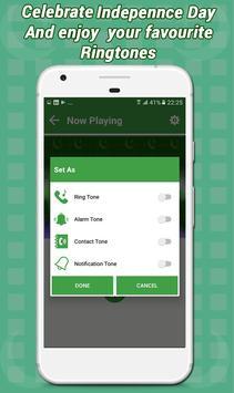 Audio mp3 Ringtones & Sounds (Jashn e Azadi Songs) apk screenshot