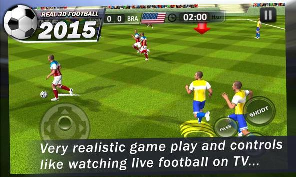 Real 3D Football 2015 poster
