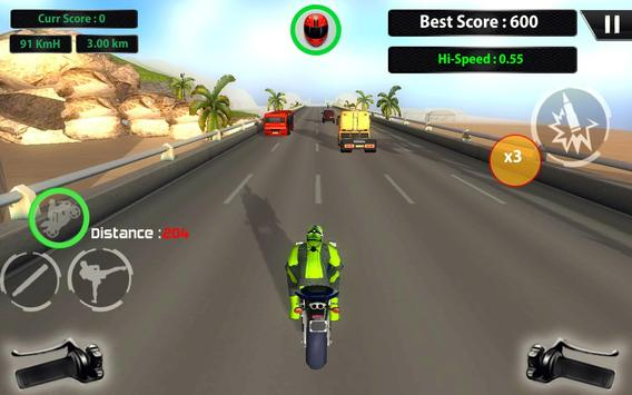 3D Hero Super hero Rider - Moto Traffic Shooter apk screenshot