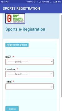 GSFC Sports Registration screenshot 1