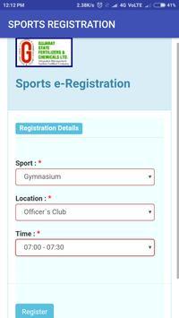 GSFC Sports Registration screenshot 2