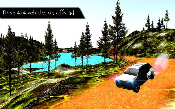 Offroad 4x4 Truck driving 3D poster