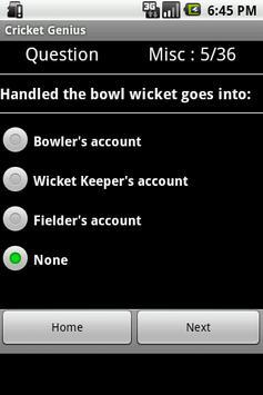 Cricket Genius screenshot 3