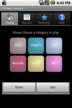 Cricket Genius screenshot 1