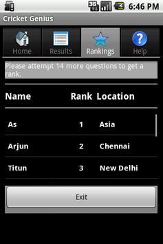 Cricket Genius screenshot 2