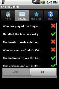 Cricket Genius screenshot 4