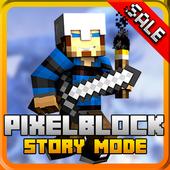 Story mode: pixel block gun 3d icon