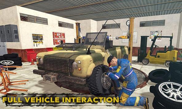 US Military Truck Mechanic Sim poster