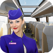 Virtual girl tourist bus waitress jobs : Dream Job icon