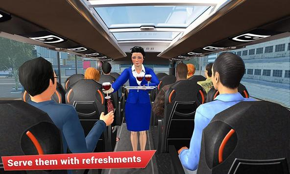 Virtual girl tourist bus waitress jobs : Dream Job poster