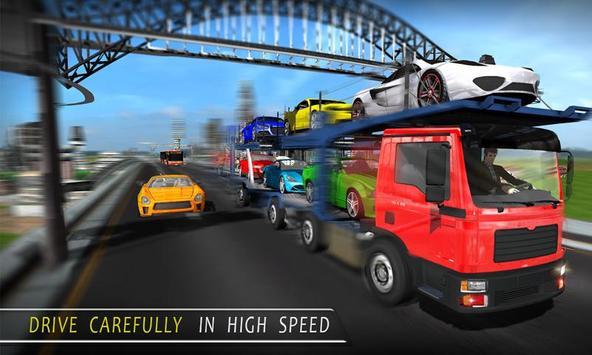 City Car Transport Cargo Truck poster