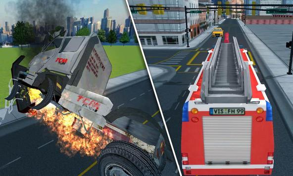 Fire Truck Rescue 3D Simulator apk screenshot