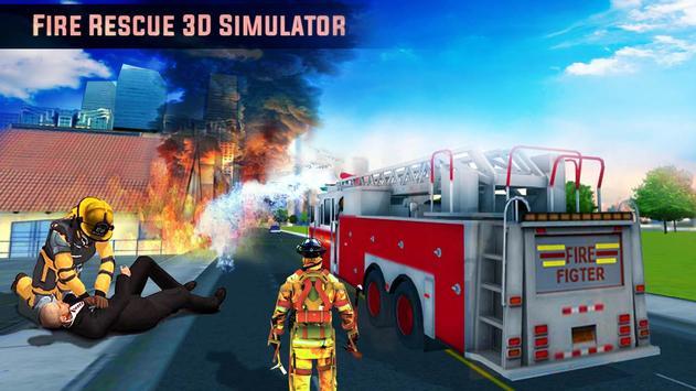 Fire Truck Rescue 3D Simulator poster