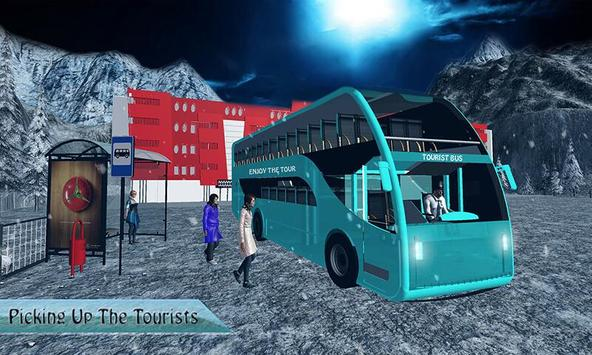 Offroad Tourist Snow Bus Drive poster