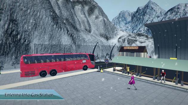 Offroad Tourist Snow Bus Drive apk screenshot