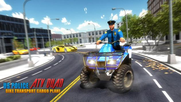 US Police ATV Quad Bike Plane Transport Game screenshot 5