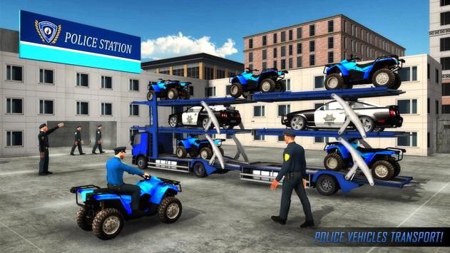 US Police ATV Quad Bike Plane Transport Game screenshot 13