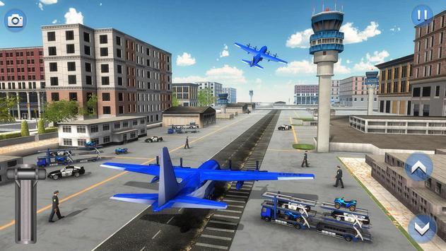 US Police ATV Quad Bike Plane Transport Game screenshot 10