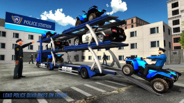 US Police ATV Quad Bike Plane Transport Game screenshot 14