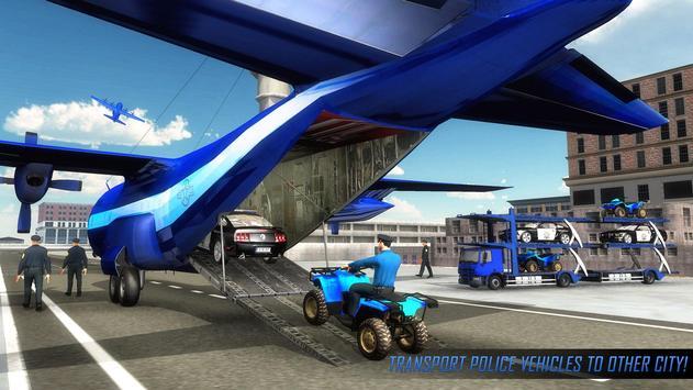 US Police ATV Quad Bike Plane Transport Game screenshot 1