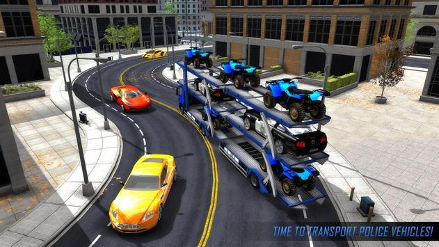 US Police ATV Quad Bike Plane Transport Game screenshot 3