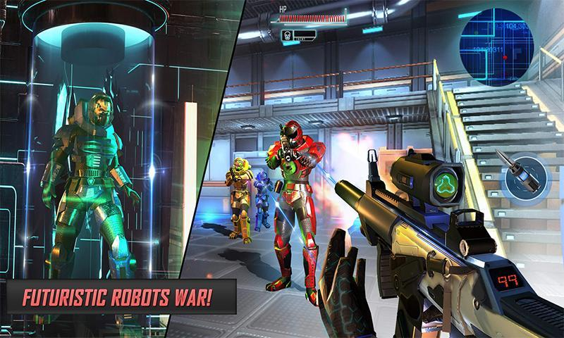 Futuristic Real Robot Wars - Robot FPS Shooter for Android - APK