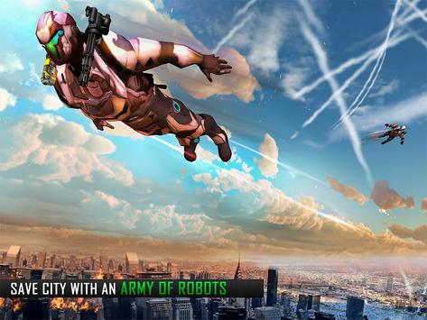 Flying Robot Grand City Rescue