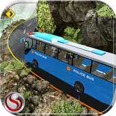 Off Road Police Bus Driving icon