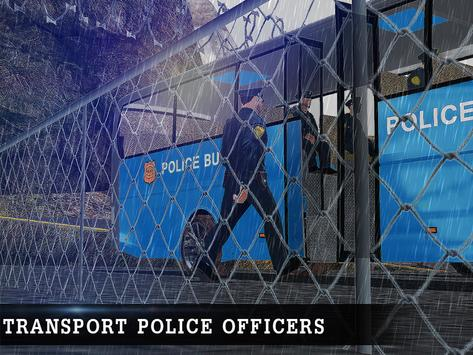 Off Road Police Bus Driving poster