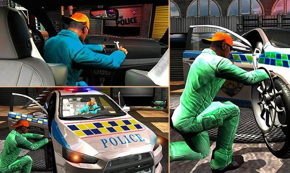 Police Auto Mechanic Workshop poster