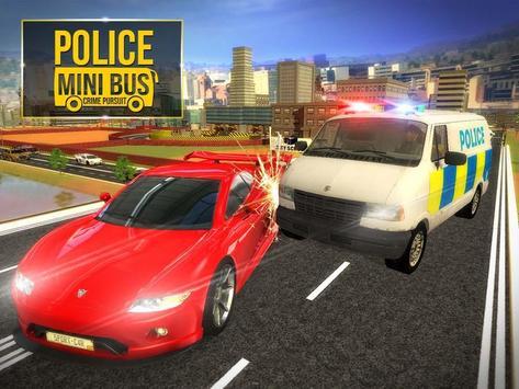Police Mini Bus Crime Pursuit screenshot 1