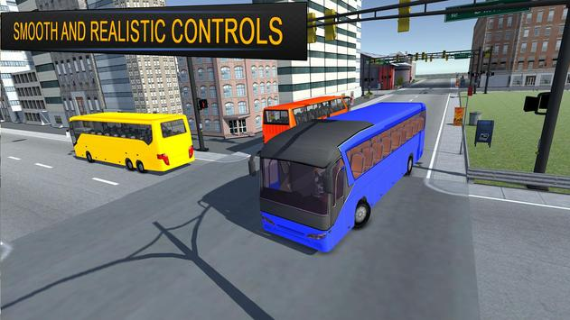 City Bus Simulator 3d 2018: Coach Bus Driving game स्क्रीनशॉट 1