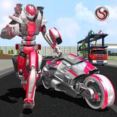 Robot Bike Transport Truck Sim icon