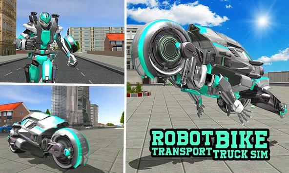 Robot Bike Transport Truck Sim poster