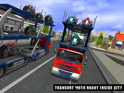 Robot Bike Transport Truck Sim apk screenshot