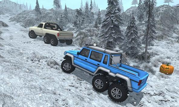 Snow Driving Offroad 6x6 Truck screenshot 2