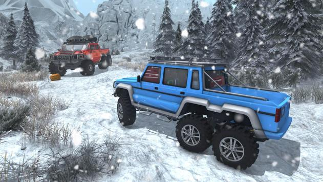 Snow Driving Offroad 6x6 Truck screenshot 10