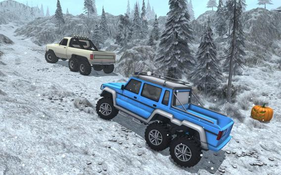 Snow Driving Offroad 6x6 Truck screenshot 11