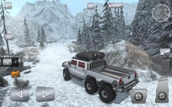 Snow Driving Offroad 6x6 Truck screenshot 12
