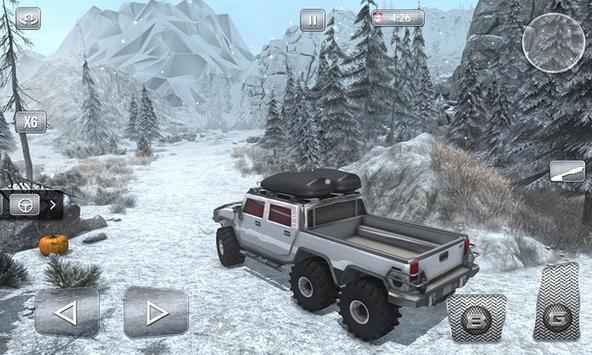 Snow Driving Offroad 6x6 Truck screenshot 1