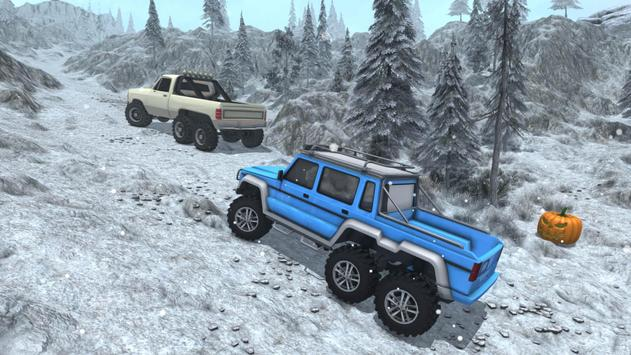 Snow Driving Offroad 6x6 Truck screenshot 6