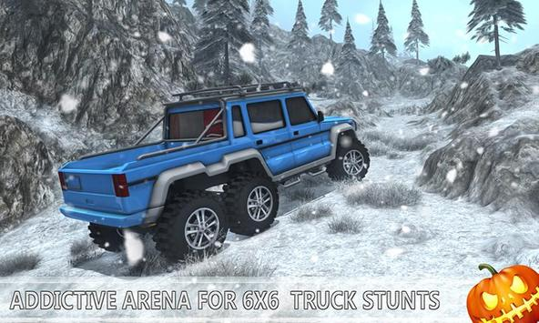 Snow Driving Offroad 6x6 Truck screenshot 3