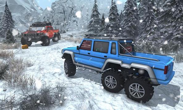 Snow Driving Offroad 6x6 Truck screenshot 4